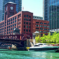 Chicago Parked By The Clark Street Bridge On The River by Thomas Woolworth