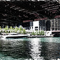 Chicago Parked On The River In June 03 Pa 01 by Thomas Woolworth