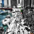 Chicago Parked On The River Walk 03 Sc by Thomas Woolworth