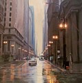 Chicago Rainy Street by Anita Burgermeister