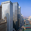 Chicago River, Aerial Shot, Illinois by Panoramic Images