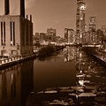 Chicago River B And W by Steve Gadomski