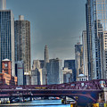 Chicago River East by David Bearden