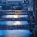 Chicago River First Light by Steve Gadomski