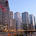 Chicago River From The Michigan Avenue Bridge by River Engel