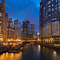 Chicago River Lights by Steve Gadomski