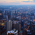 Chicago River North Skyline Night by Kyle Hanson