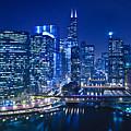 Chicago River Panorama by Steve Gadomski