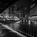 Chicago River View In Black And White  by Sven Brogren