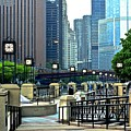Chicago River Walk Invites You by Frozen in Time Fine Art Photography