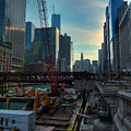 Chicago Riverwalk Construction I by Nisah Cheatham