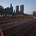 Chicago Skyline And Expressway by Sven Brogren