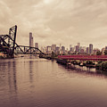 Chicago Skyline From The Southside With Red Bridge by Anthony Doudt