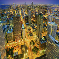 Chicago Skyline Magnificent Mile At Night by Scott Campbell