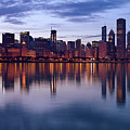 Chicago Skyline March 2009 by Donald Schwartz