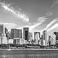 Chicago Skyline Panorama Black And White by Christopher Arndt