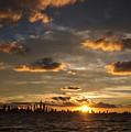 Chicago Skyline Sunset by Steve Gadomski
