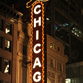 Chicago Theater At Night by Lauri Novak