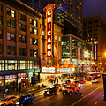 Chicago Theater At Night by Terri Morris
