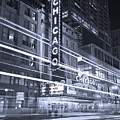Chicago Theater Marquee B And W by Steve Gadomski