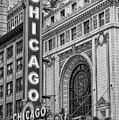 Chicago Theatre Bw by Jerry Fornarotto