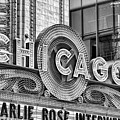 Chicago Theatre Marquee Black And White by Christopher Arndt