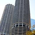 Chicago Twin Corn Cob Building  by Art Spectrum