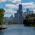 Chicago - View From Lincoln Park Lagoon by Greg Thiemeyer