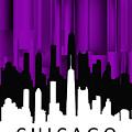 Chicago Violet Vertical  by Alberto RuiZ