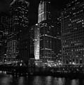 Chicago Wacker Drive Night by Kyle Hanson