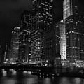 Chicago Wacker Drive Night Portrait by Kyle Hanson