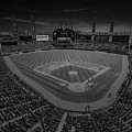 Chicago White Sox Us Cellular Field Creative 3 Black And White by David Haskett II