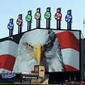 Chicago White Sox Usa Eagle Scoreboard by Thomas Woolworth