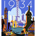 Chicago, World Fair, Vintage Travel Poster by Long Shot