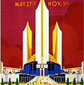 Chicago, World's Fair, Vintage Travel Poster by Long Shot