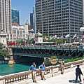 Chicago's Dusable Bridge On N. Michigan Avenue by Ginger Wakem