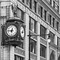 Chicago's Father Time Clock Bw by Jerry Fornarotto