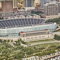 Chicago's Soldier Field Aerial by Adam Romanowicz