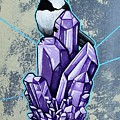 Chickadee And Amethyst by Dan Gee