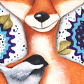 Chickadee Fox by Deb Harvey