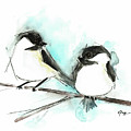 Chickadees II by Emily Page
