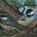 Chickadees by Rosellen Westerhoff