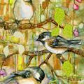 Chickadees Three by Peggy Wilson