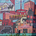 Chickasaw Ballpark Mosaic Wall by Bob Phillips