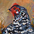 Chicken With A Pearl Ear Ring by Peggy Wilson