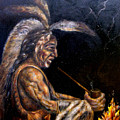 Chief At The Campfire by MM Zurahov