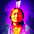 Chief Sitting Bull 20160103 Square by Wingsdomain Art and Photography