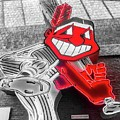 Chief Wahoo Sluggin by Michael Krek