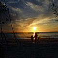 Child And Grandmother At Ft Desoto by Tracy Crow