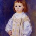 Child In A White Dress Lucie Berard 1883 by Renoir PierreAuguste